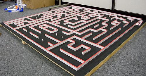 labyrinthe pour le concours Micromouse