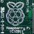 logo sur la carte du Raspberry Pi